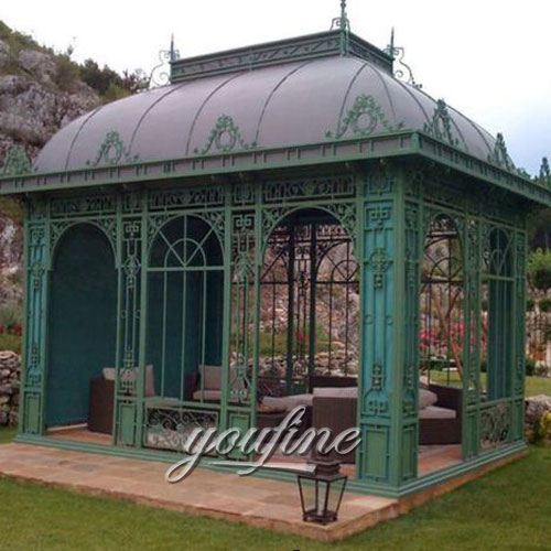 Hot selling Large outdoor metal 10x10 gazebo for garden