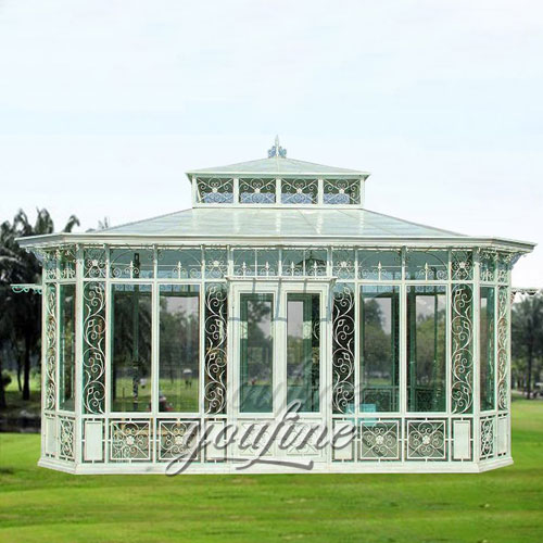 Buying outdoor garden screened hardtop white gazebo with best price