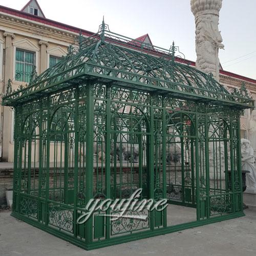 Buying outdoor screened hardtop green 12x12 gazebo