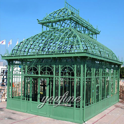 Outdoor large wrought iron 12x12 gazebo with best price