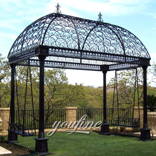Outdoor large steel hardtop 12x12 gazebo with best price