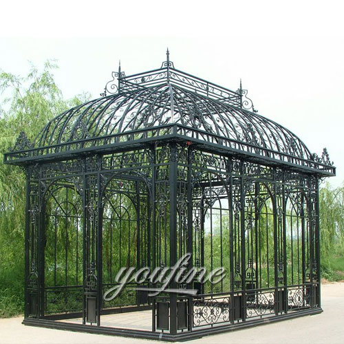 Outdoor large metal garden hardtop gazebo with best price