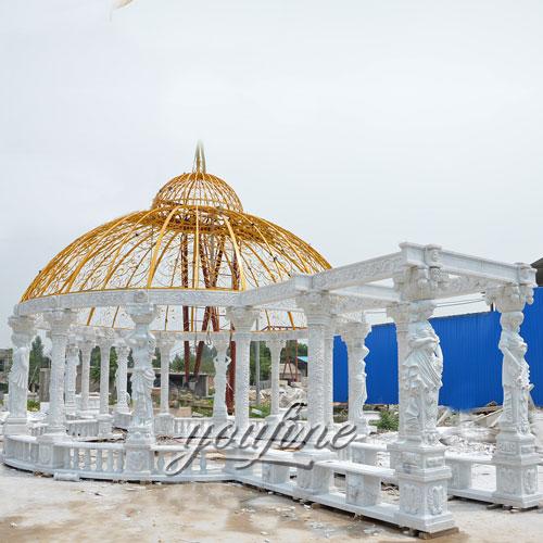 Garden Decorative large garden decoration white marble gazebo for sale