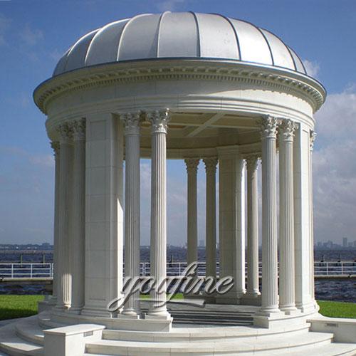 Garden decorative luxury withe marble gazebo for wholesaling