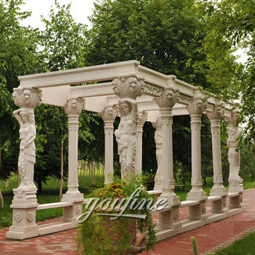 High quality garden decorative nature stone gazebo for sale