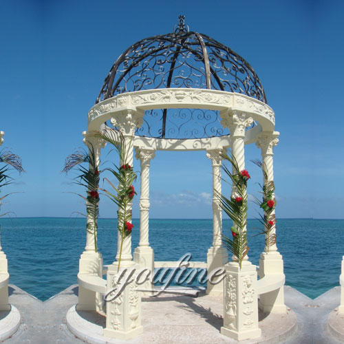 Outdoor decorative nature marble gazebo for sale