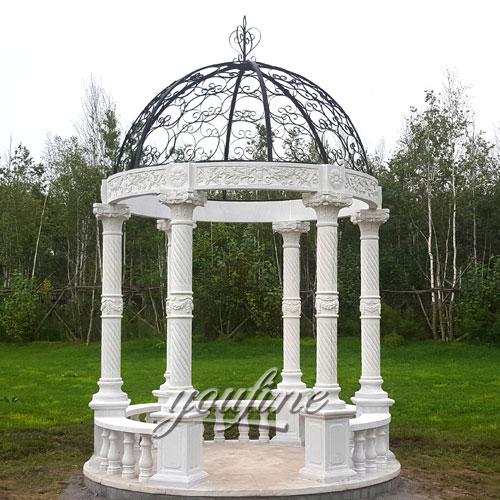 Popular Design Stone Gazebo with High Quality for Garden Decor