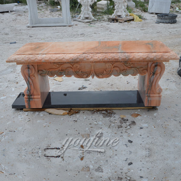 Outdoor garden hand carving marble bench for sale