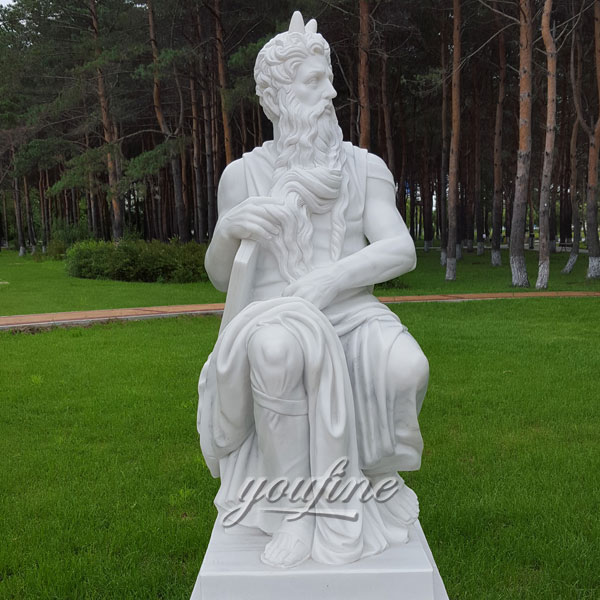 Outdoor life size marble carving garden sculptures for sale