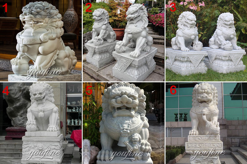 Chinese Foo dog lion statue